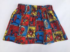 A personal favorite from my Etsy shop https://www.etsy.com/listing/480087070/spider-man-skirt-or-bloomers-baby-girl
