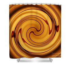 """Amber Square Swirl 2 Shower Curtain   $65 at http://fineartamerica.com/products/amber-square-swirl-2-sarah-loft-shower-curtain.html  This shower curtain is made from 100% polyester fabric and includes 12 holes at the top of the curtain for simple hanging. The total dimensions of the shower curtain are 71"""" wide x 74"""" tall."""