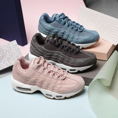 Pink Air Max 95 Source by . Air Max 95 Pink, Air Max 97, Nike Air Max, Nike Shox, Air Max Sneakers, Shoes Sneakers, Basket Style, Dries Van Noten, Baskets Nike