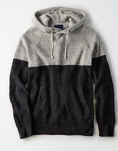 Discover an extensive selection of men's sweaters at American Eagle Outfitters. The best pieces for layering up this fall are here in a vareity of styles from V-neck sweaters to cool cardigans. Men's Sweaters, Cardigans, Casual Shirts For Men, Men Casual, Mens Outfitters, Black Knit, Casual Wear, American Eagle Outfitters, Man Shop