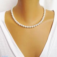 Klasszikus gyöngy ékszerszett (Esztihobbi) - Meska.hu Chain, Jewelry, Fashion, Jewellery Making, Moda, Jewerly, Jewelery, Fashion Styles, Jewels