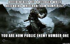 video game logic villager skyrim