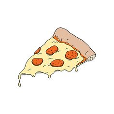 Pizza temporary tattoo by Julia Rothman for Tattly