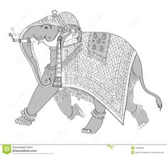 Decorated Indian Elephant Stock Vector - Image: 44890559