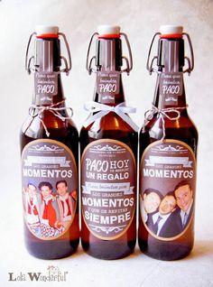 Lola Wonderful_Blog: Cervezas personalizadas: detalles de boda y packs de regalo Lola Wonderful, Happy 50th, My Prince Charming, Ideas Para, Fathers Day, Catering, Beer, Diy Crafts, Wine