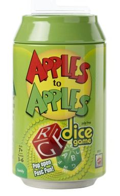 Discover the best selection of Apples to Apples Games at Mattel Shop. Shop for Apples to Apples Party Tin, Big Picture, Freestyle and Junior editions today! Dice Games, Fun Games, Games To Play, Lets Play A Game, I Am Game, Mattel Shop, Apple Brand, Apples To Apples Game, Fanta Can