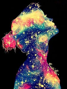 """""""Yo soy infinita. Soy el universo entero. A veces necesito colapsar para luego poder estallar y volver a crecer. Dentro de mi, tengo los agujeros negros más negros y profundos; pero al mismo tiempo contengo las galaxias más hermosas y las estrellas más brillantes. He aquí, todo lo que soy. No me haré más pequeña, no puedo hacerme más pequeña. No puedo ser retenida.Yo soy infinita."""""""