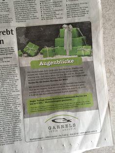 Weihnachtsanzeige für Garrels Optik www.designstuuv.de