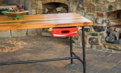 Reclaimed Wood Desk Industrial Desk Office by WoodenMetalUS