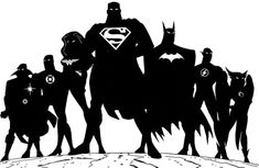 Large Justice League Super Heroes DC Comics Superman Flash Green Lantern Batman Wonderwomen Wall Decal Home Decor Sticker 30 x 48 >>> Details can be found by clicking on the image. (This is an affiliate link) Silhouette Cameo Projects, Silhouette Vector, Silhouette Design, Silhouette Blog, Disney Fantasy, Halloween Window Silhouettes, Iron Man Face, Justice League Team, Arte Dc Comics