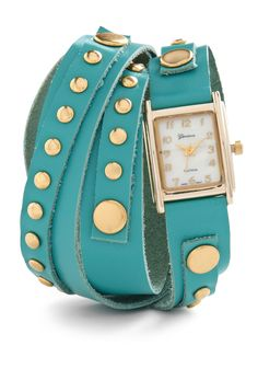 We <3 this turquoise wrap-style watch. The perfect accessory any 'time' of day!