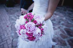 Bouquet peonias y rosas pitimini