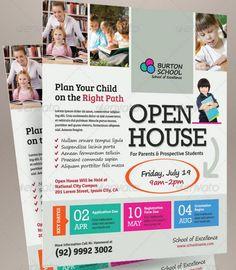 School Open House Flyer Template