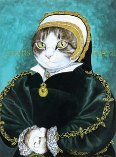 PORTRAIT OF A LADY, POSSIBLY CATHERINE HOWARD (HOLBEIN) by SUSAN HERBERT