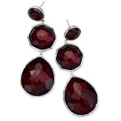 IPPOLITA Sterling Silver Rock Candy Crazy 8's Earrings in Scarlet (12,610 MXN) ❤ liked on Polyvore featuring jewelry, earrings, gold, sterling silver jewellery, clear crystal jewelry, ippolita earrings, clear earrings and ippolita jewelry