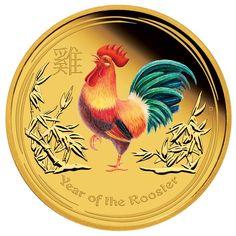 100 Dollar Gold Lunar Jahr des Hahns PP