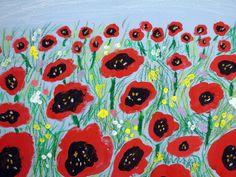 1st Grade art assignments | Suzanne Tiedemann - Poppy Field Paintings Inspired by the Wizard of OZ