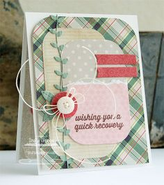 made by Inge Groot: Get Well Wishes. Blueprints 10 Die-namics. love the layout