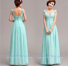 Mint Green Chiffon Floor Length V-n | Long prom dresses, Dress ...