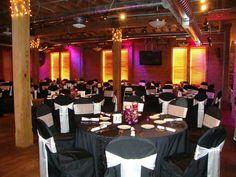 Black Table Linen, Black Chair Covers & White Satin Tie Sash