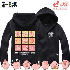 Pas cher New Anime Nanatsu pas Taizai les sept péchés capitaux polaire hoodies faucon Cosplay Costume Casual unisexe vêtements Zipper sweat, Acheter  Sweats à Capuche et Sweatshirts de qualité directement des fournisseurs de Chine:
