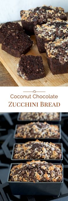 ***Chocolate Chip Coconut Chocolate Zucchini Bread ~ studded with chocolate chips is so rich, moist and delicious no one will ever know that the secret ingredient is zucchini. Chocolate Pumpkin Bread, Chocolate Chip Zucchini Bread, Coconut Chocolate, Chocolate Desserts, Chocolate Chips, Delicious Chocolate, Coconut Zucchini Bread, Zucchini Desserts, Zucchini Bread Recipes