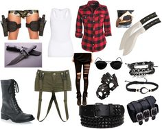 """Zombie Apocolypse"" by sammie-all-styles ❤ liked on Polyvore"