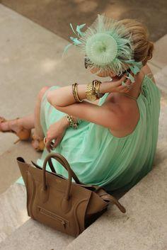 Atlantic-Pacific Kentucky Derby: Tibi dress, zara shoes, celine purse, michael kors watch,