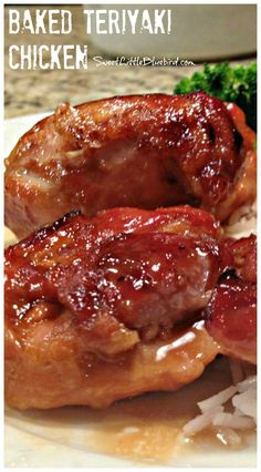 "BAKED TERIYAKI CHICKEN - Simple to make, so good! Terrific tried & true recipe that is ready in an hour. ""This is wonderful!! There are never any leftovers!"" 