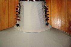 orecchini spirale con perline e cristalli