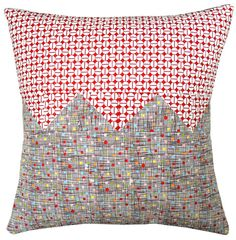 Modern throw pillow - Why Not