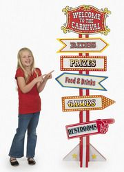 Cardboard Big Top Directional Sign... It might be fun to make this myself for a circus or carnival theme...