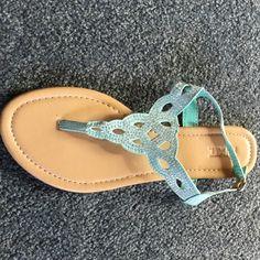 Mix it Aqua sandel Worn once mix it Aqua/rhinestone sandel. Mixit Shoes Sandals
