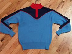 vintage 70's MEISTER wool blend ski sweater jumper by vintagezion