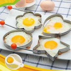 Stainless Steel Fried Egg Mold Kitchen Cooking Tool with Heart / Ring / Flower / Star Shape - Cooking Tools, Cooking Lamb, Cooking Corn, Cooking Fish, Cooking Equipment, Cheap Apartment For Rent, Egg Molds, Luxury Shower, Kitchen