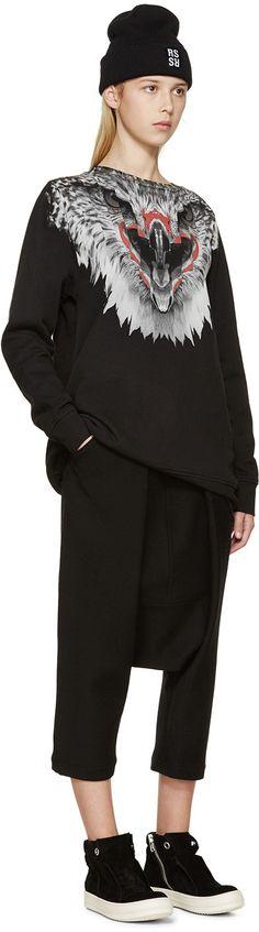 Marcelo Burlon County of Milan Black Alumco Sweatshirt Girl Style, My Style, Navy Fabric, Aw17, Check Shirt, Catwalk, Milan, Streetwear, Skull