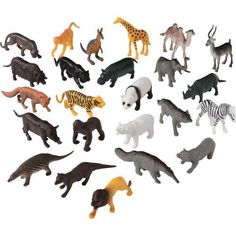 2.25 inch Wild Animals (144 pieces) Prey Animals, Wild Animals, Discount Toys, Animal Categories, Goodie Bags, Predator, Pet Toys, Polar Bear, Giraffe