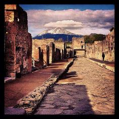 The Ancient Roman city of Pompeii, Italy.