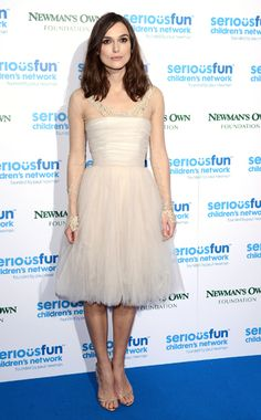 Keira Knightley Chanel Couture dress, Jimmy Choo shoes SeriousFun Gala, London December 3, 2013