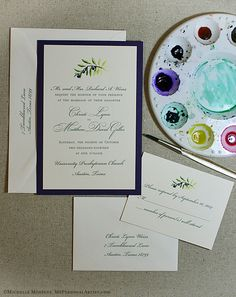 Olive Branch Invitations - Shop for Olive Branch Wedding Invitations at My Personal Artist