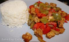 Serves 1 Syns per portion: Extra Easy Free Ingredients loin red bell pepper bell pepper of medium onion . Slimming World Recipes Extra Easy, Slimming World Diet, Skinny Recipes, Healthy Recipes, Skinny Meals, Pork Recipes For Dinner, Pork Dishes, Healthy Eating, Healthy Food