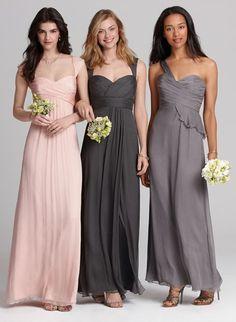 Gorgeous mix & match bridesmaids dresses from Amsale
