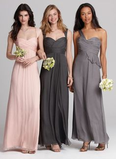 Gorgeous mix & match bridesmaids dresses from Amsale