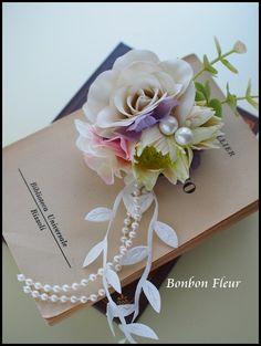 入園式のコサージュ : Bonbon Fleur ~ Jours heureux コサージュ&和装髪飾り