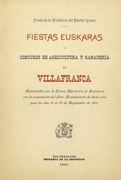 Fiestas euskaras, Villafranca, 1904