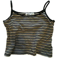 62d8141d18f Striped Boxy Crop Top Tank ( 32) ❤ liked on Polyvore featuring tops