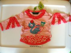 NWT Oilily Baby Girl Long Sleeve Shirt Lily Swan Kipje Fall 56 0 to 3 months