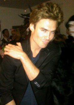 """Ian Somerhalder as Paul Wesley  How could we not give the top spot to """"Vampire Diaries"""" star Ian Somerhalder based on sheer wit? Donning a tousled blondish wig, a black blazer and some serious cheek bones, Ian played his costar Paul to a T. A day later, Ian is still (deservedly) reveling in his awesomeness, tweeting, """"early morning on set. Paul Wesley is here, It's always strange to hang out with the monster you dressed as for Halloween..."""" Bravo, Mr. Somerhalder."""