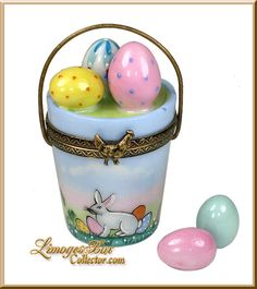 Easter Egg Hunt Bucket Limoges Box (Beauchamp).