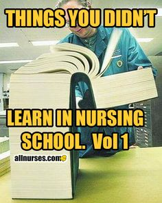 This is what I imagine when you talk of your experience with nursing classes.
